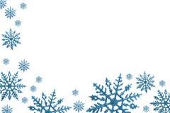 Cadre de flocon de neige Photos stock
