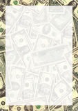Cadre de fond d'argent Photo libre de droits