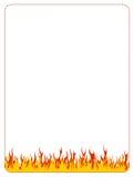 Cadre de fond de Web d'incendie illustration stock