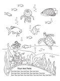 Cadre de fond des océans Images stock