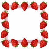 Cadre de fraise Images stock
