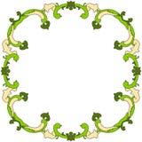 Cadre de frontière de feuilles Photographie stock libre de droits