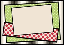 Cadre de frontière de points et de rayures de polka illustration de vecteur