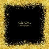 Cadre de frontière de scintillement d'or Vecteur Photo libre de droits