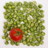 Cadre de frontière de fond de nourriture des légumes crus colorés de produit frais Photos stock