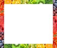 Cadre de fruits frais et de légumes Photo stock
