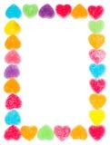 Cadre de gelée de coeur Photo stock
