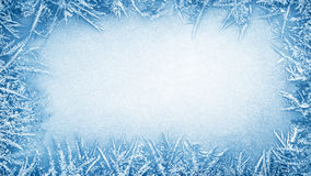 Cadre de gel de glace photographie stock