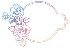 Cadre de gradient avec des roses o Photos stock