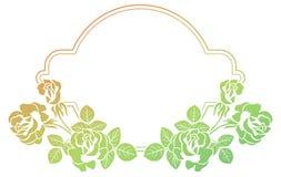 Cadre de gradient avec des roses o Photographie stock libre de droits