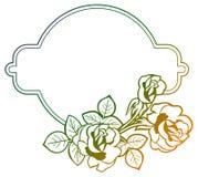 Cadre de gradient avec des roses o Image libre de droits