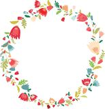 Cadre de guirlande de fleur Photo libre de droits