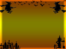 Cadre de Halloween illustration stock