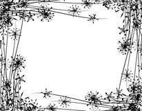 Cadre de jardin de fleur de l'hiver Photos stock