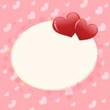 Cadre de jour de Valentines Images stock