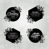 Cadre de Joyeux Noël et de bonne année avec des flocons de neige photo stock