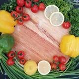 Cadre de légumes photographie stock