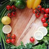 Cadre de légumes photos stock