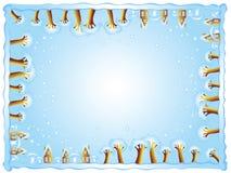 Cadre de l'hiver Photographie stock libre de droits
