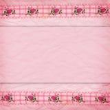 Cadre de lacet avec des roses Photo stock