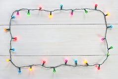 Cadre de lumières de Noël Image libre de droits