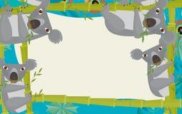 Cadre de nature de bande dessinée - horizontal - nature - ours de koala Photographie stock libre de droits