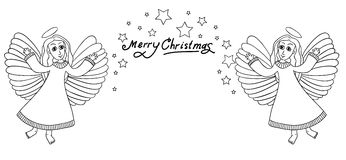 Cadre de Noël avec des angals Images stock