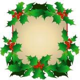 Cadre de Noël avec des brins de houx illustration libre de droits