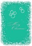 Cadre de Noël avec des flocons de neige Photo stock
