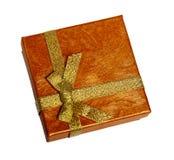 Cadre de Noël avec la bande d'or Photographie stock