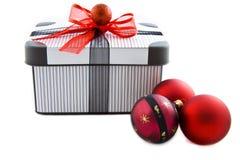 Cadre de Noël de cadeau Images libres de droits