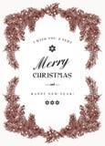 Cadre de Noël de vintage Image libre de droits