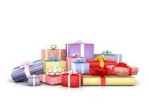 Cadre de Noël et de cadeau de vacances illustration de vecteur