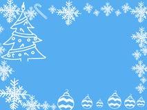 Cadre de Noël et de la nouvelle année 2016 sur le fond bleu Photographie stock libre de droits