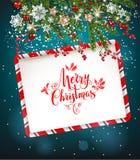 Cadre de Noël heureux illustration de vecteur