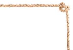 Cadre de noeud de corde Photos libres de droits