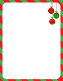 Cadre de Noël/canne de sucrerie Photographie stock