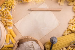 Cadre de pâtes Photographie stock