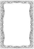 Cadre de page décoratif de coloration de format de la place a4 d'isolement sur le blanc Image stock