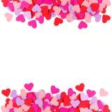 Cadre de papier coloré de coeur Photo libre de droits