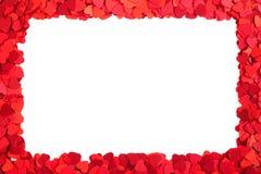Cadre de papier de coeurs Photographie stock libre de droits