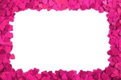 Cadre de papier de coeurs Images libres de droits
