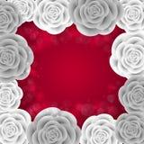Cadre de papier de roses Photo stock