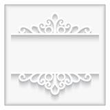 Cadre de papier ornemental Photo libre de droits