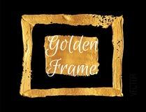 Cadre de peinture de couleur d'or Bannière tirée par la main illustration libre de droits