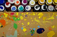 Cadre de peinture d'artistes Photographie stock