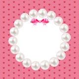 Cadre de perle de vintage avec le fond d'arc Vecteur Photos stock