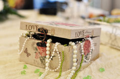 Cadre de perles Photos stock