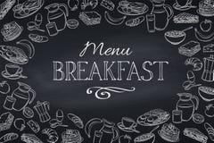 Cadre de petit déjeuner et de brunch illustration stock