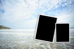cadre de photo au hin de hua de mer en Thaïlande Photos stock
